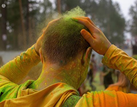 Разноцветное «хулиганство» в городском парке